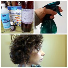Sea Salt Spray for Curly Hair - fav recipe for sea salt spray, only I sub Moroccan Oil for coconut oil. (I just use less because it's thicker. I also use Gray Goose vodka)