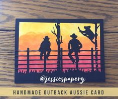 Items similar to Aussie Outback Card - Koala on Etsy Christmas Cards To Make, Xmas Cards, Men's Cards, Christmas 2019, Australian Christmas Cards, Horse Birthday, Card Companies, Western Theme, Fathers Day Cards