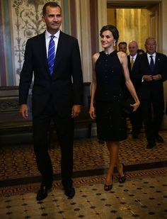 King Felipe and Queen Letizia attends a meeting on Capitol Hill