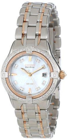 Citizen Women's EW2066-58D The Signature Collection Eco-Drive Quattro Diamond Watch: Watches: Amazon.com