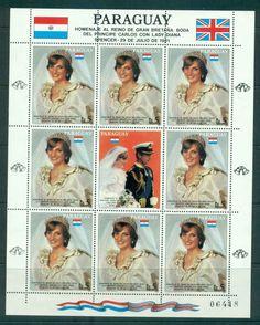 Paraguay 1981 Charles & Diana Wedding Sheetlet 5g + label MUH Lot45158