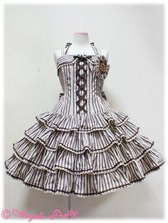 Lolibrary | Angelic Pretty - JSK - Vintage Stripe JSK