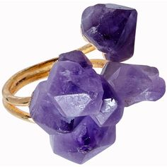 Helix and Felix Gold Plated Purple Amethyst Healing Crystal Ring ($23) ❤ liked on Polyvore featuring jewelry, rings, accessories, jewels, purple, gold plated ring, indian bracelet, purple bracelet, amethyst bracelet y wrap around bracelet