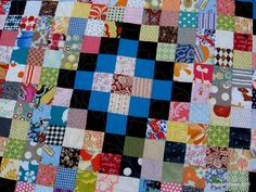 What's a better name for this scrap quilt than Scrap-Tastic? Emily Carr effectively uses all types of scraps and re-purposed fabrics including 'new' scraps, vintage sheets and shi…