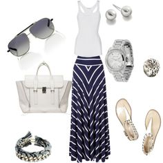 the maxi skirt, created by paolanoel on Polyvore