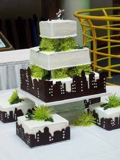 Wedding Cake By e-vents -- a wedding and event planning boutique