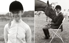 The young equestrian... once bitten forever smitten!