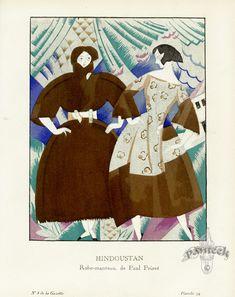 Hindoustan by Charles Martin  - Gazette du Bon Ton Antique Fashion Prints 1912-1913