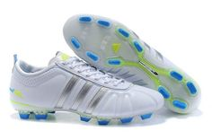 low priced 4365c f9869 Adidas adiPure IV TRX FG White Silver Blue Soccer Cleats Football Boots, Football  Cleats,