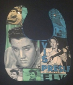 Elvis Baby Bib by sugarnspikesfashions on Etsy, $16.00