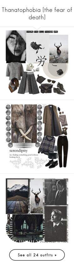 """Thanatophobia [the fear of death]"" by mariettamyan ❤ liked on Polyvore featuring Benjamin Moore, Wild Horses, Le Ciel Bleu, Michael Kors, Fleet Ilya, Marc Fisher LTD, Givenchy, BP., McCoy Design and La Garçonne Moderne"