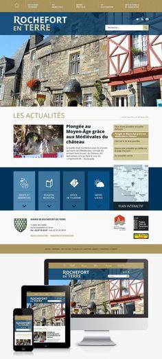 Création du site Internet de la ville de Rochefort en Terre (56) : #Web #Webdesign #Responsive #Mairie #Ville #Public : www.rochefort-en-terre.fr by @creasit