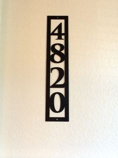 15 x10  Classic House Number Engraved Plaque  Housewarming Gift     4 Vertical House Number   1004v4