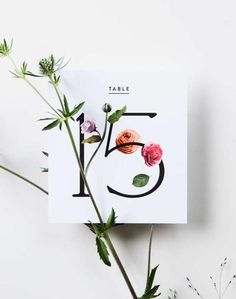 Check out these Minimalist Wedding Invitations for Cool Brides. | Nature-inspired with cool botanical and floral graphics, Venamour's stationery is perfectly simple a modern.