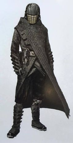 "Early concept art for the enigmatic Jedi Killer from ""Star Wars Episode VII The Force Awakens"" (2015)."