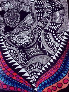 Zentangle #zentangle #doodles