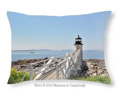 Here's the link to buy this pillow with the famous and beautiful #MarshallPointLighthouse in #Maine. You can also easily crop it to a square shape just scroll up to the other sizes.  Save $5 thru 2/15/15 use code RSYBMN Like it? Repin to save for later that way you have the discount code too.