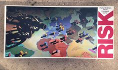 1980 RISK War BOARD GAME Parker Brothers STRATEGY Military ARMY Games Family Out Of
