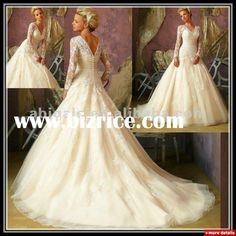 Queen Anne Neckline Lace Designer Long sleeve lace Wedding Dress(LG50012) / China Plus Size Dress & Skirts for sale from Jessica Fashion Dress Co., Ltd. - Bizrice.com