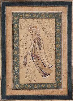 a bearded man isfahan 1620