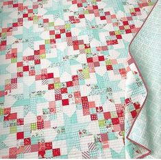 Crib-Size First Day of School Baby Quilt; Busy Village Baby Blanket