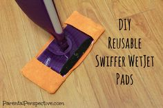 A step by step tutorial for making your own reusable Swiffer WetJet pads