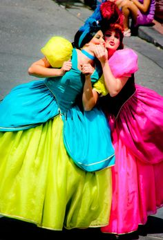 Ha! Drizella and Anastasia.  I saw these two, plus the evil step mom when I went to Disney.  We all plotted to get back at Cinderella for stealing the Prince away lol.