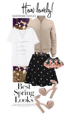 """Wardrobe Staple: White T-Shirt"" by shortyluv718 ❤ liked on Polyvore featuring H&M, Violeta by Mango, Yumi, Schutz, Edge of Ember, Alexander McQueen and WardrobeStaple"