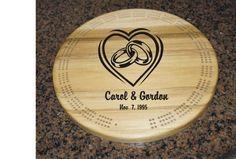 Get the wedding ring  logo, wooden cribbage board , great gift idea at $35.00 only . https://www.etsy.com/listing/256369676/wedding-ring-logo-wooden-cribbage-board?utm_source=socialpilotco&utm_medium=api&utm_campaign=api #toys