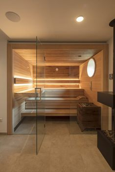 35 The Best Home Sauna Design Ideas You Definitely Like - No matter what you're shopping for, it helps to know all of your options. A home sauna is certainly no different. There are at least different options. Diy Sauna, Home Spa Room, Spa Rooms, Sauna Steam Room, Sauna Room, Serene Bathroom, Small Bathroom, Bathroom Storage, Dream Bathrooms