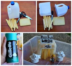 DIY Toy Car Wash easy to make and FUN to play with