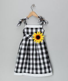 Black Checker Sunflower Dress by 3 Angels Clothing - I am a sucker for sunflowers!