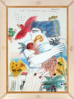 Φασιανός Αλέκος-The Pan, 2003 Greece Painting, 10 Picture, Greek Art, Bookbinding, Artist Art, Love Art, Creative Design, Contemporary Art, Artsy