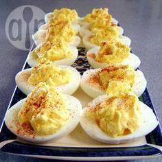 Eenvoudige gevulde eieren