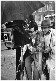 Richard Avedon and Fred Astaire on the set of Funny Face, 1956, Paris, Photo: David Seymour