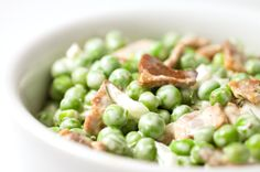 Click for a larger photo of Pea Salad with Bacon and Fresh Dill