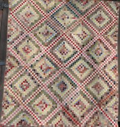 Rags 1870's True Postage Stamp Quilt Tons of Work Graphic and Amazing   eBay