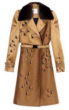 Carolina Herrera wool and silk Mikado coat