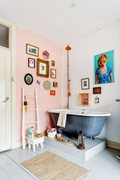 pink accent wall