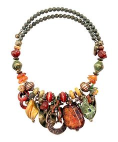 Another great find on #zulily! Earthtone Collage Wire-Wrap Necklace #zulilyfinds