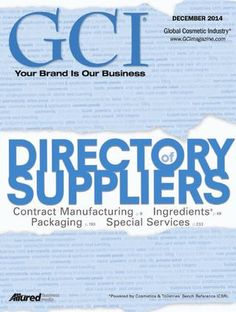 Global Cosmetic Industry, GCI December  GCI December 2014. Global Cosmetics Industry Magazine.