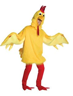 UHC Unisex Fuzzy Chicken Mascot Theme Party Funny Adult Halloween Costume OS >>> Continue to the product at the image link.