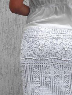 White maxi skirt Wedding skirt Bohemian skirt White long skirt Summer crochet skirt Cotton skirt Crochet skirt Boho skirt Wedding lace skirt