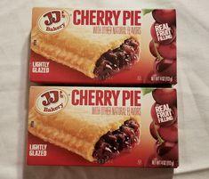 JJs Bakery Lightly Glazed Cherry Pies 4 Oz Yummy Fruit Pie Snack Dessert 6 Pack