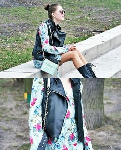 In love with mint & flowers (by Kasia Gorol) http://lookbook.nu/look/3284479-In-love-with-mint-flowers