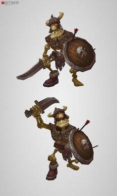 Low Poly Skeleton Swordsman
