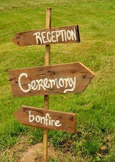 sign saying bonfire wedding on beach - Google Search
