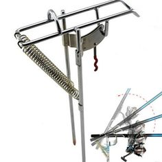 N, Double Spring Fishing Stand Bracket Fishing Rod Pole Stand: Bid: 25,54€ Buynow Price 25,54€ Remaining 09 dias 03 hrs Specifications:…