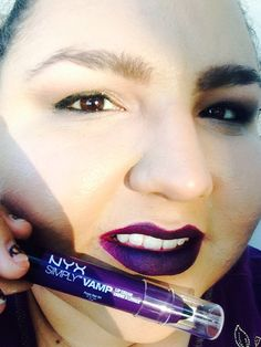 NYX VAMP: Color Temptress which is a BEAUTIFUL dark purple/plum!