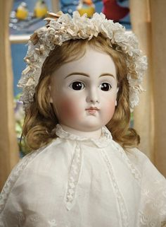 Sanctuary: A Marquis Cataloged Auction of Antique Dolls - March 19, 2016: Beautiful German Bisque Closed Mouth Child Doll by Kestner